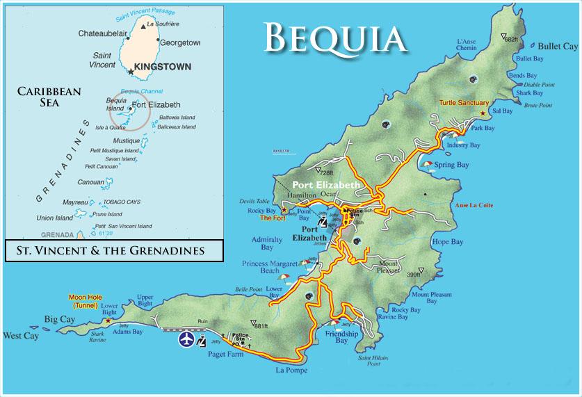 bequia map 2